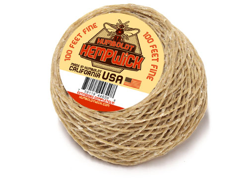 100 Feet of Fine Flame Humboldt HempWick